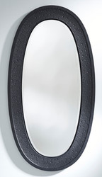 Casa Padrino Luxury Mirror Black 89 x 5 x H. 170 cm - Elegant Oval Wall Mirror - Wardrobe Mirror - Living Room Mirror - Luxury Decoration Accessories
