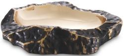 Casa Padrino Luxus Deko Schale Bronze / Messing 24 x 20 x H. 5 cm - Wohnzimmer Deko - Schreibtisch Deko - Deko Accessoires