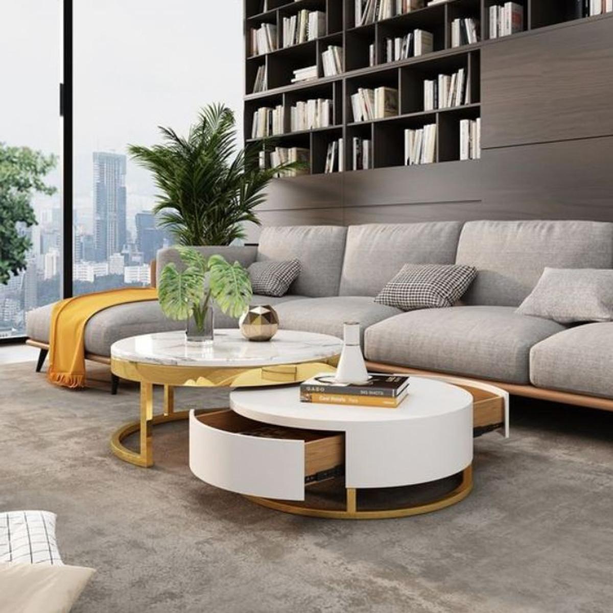 Casa Padrino Luxury Coffee Table Set, Living Room Table Set