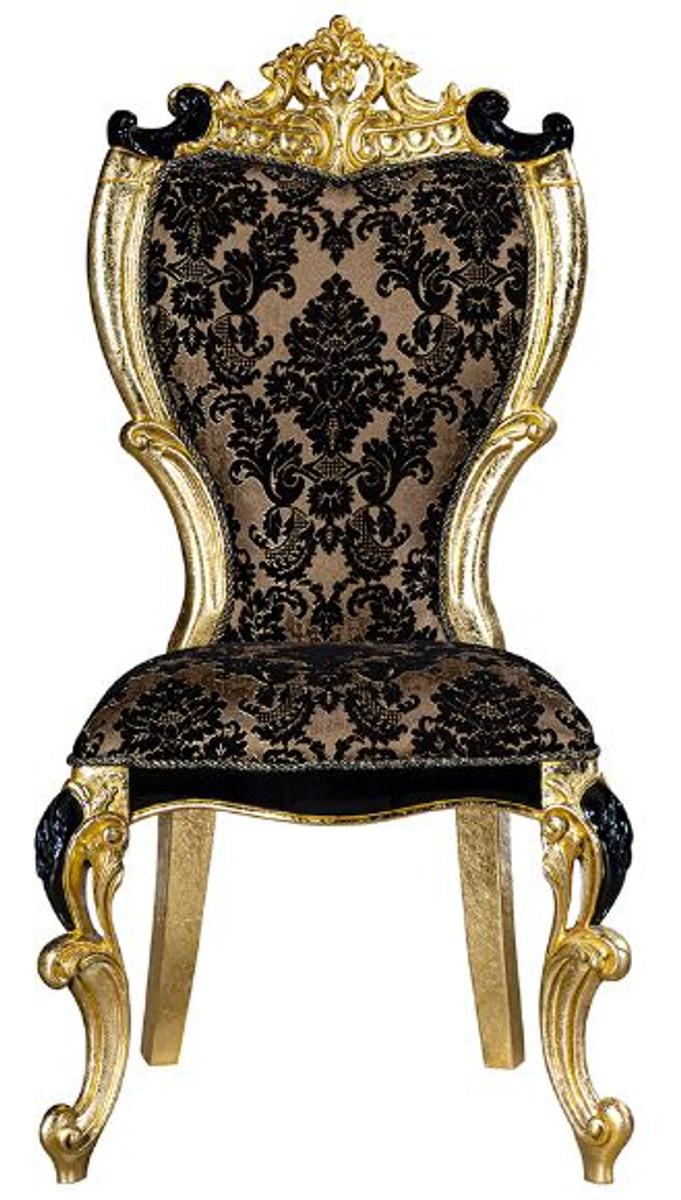 Casa Padrino Set Da Pranzo Barocco Di Lusso Marrone Nero Oro 1 Tavolo Da Pranzo E 6 Sedie Da Pranzo Mobili Per Sala Da Pranzo In Stile Barocco Magnifico Casa Padrino De
