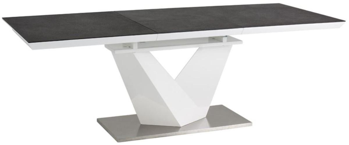 Casa Padrino Tavolo Da Pranzo Di Design Nero Bianco Argento Diverse Dimensioni Del Tavolo Tavolo Da