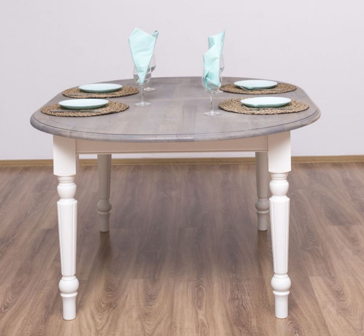 Casa Padrino country style dining table gray / white 9 x 9 x H ...