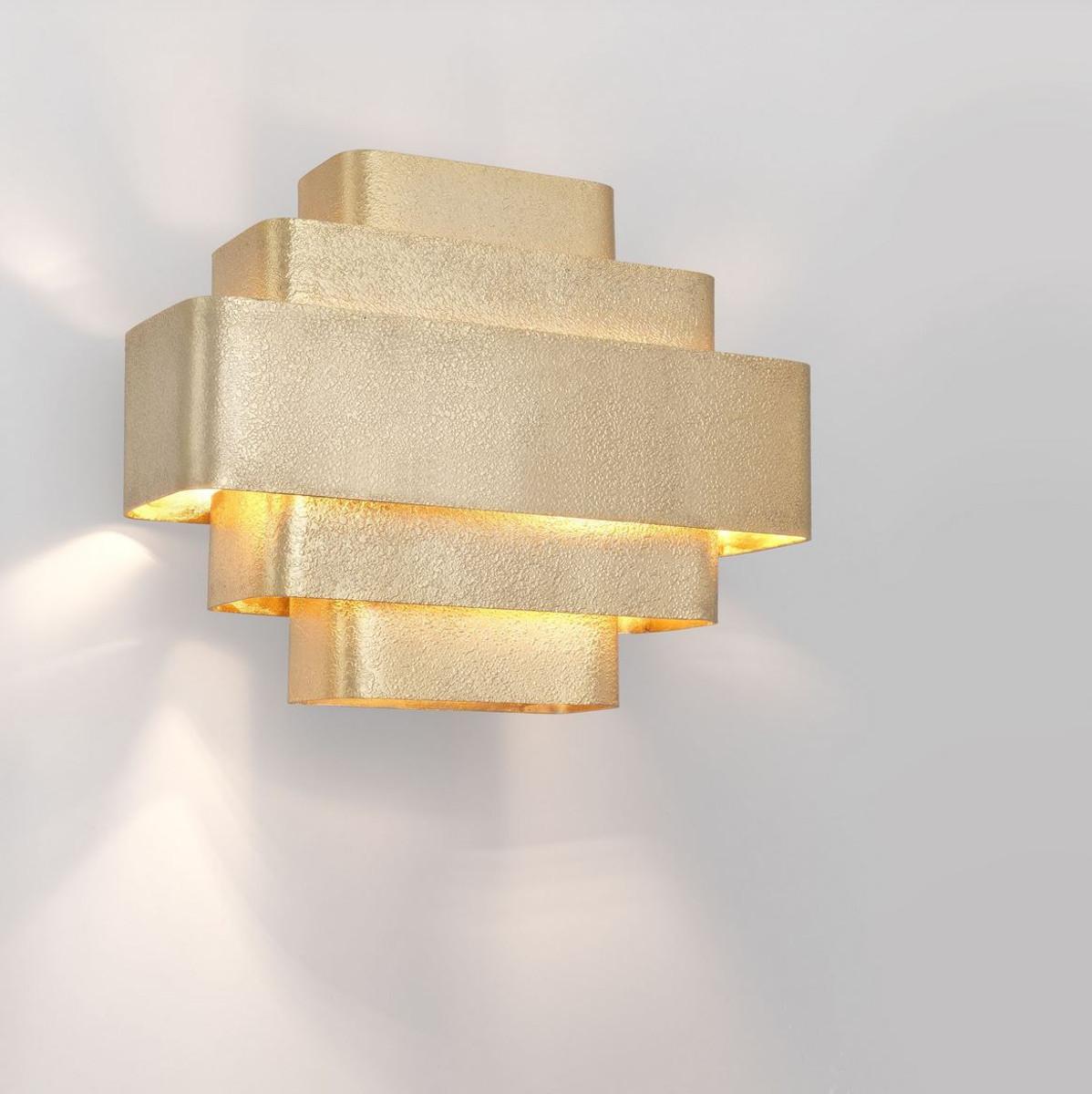 Casa Padrino Lampada Da Parete Di Lusso Oro 38 X 12 5 X A 31 Cm Elegante Lampada Da Parete Per Soggiorno Luci Soggiorno Casa Padrino De
