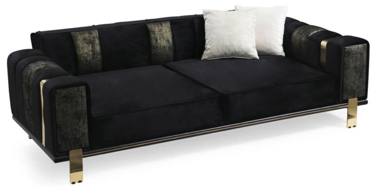 Casa Padrino Luxury Living Room Sofa, Black Living Room Furniture