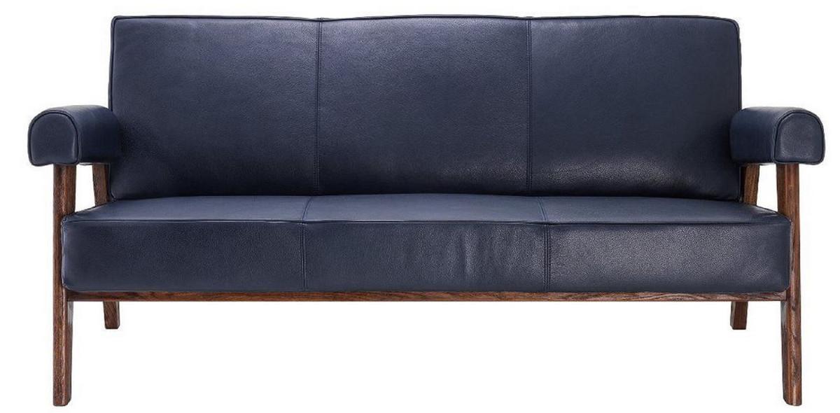 Casa Padrino Luxury Genuine Leather, Leather Living Room Furniture