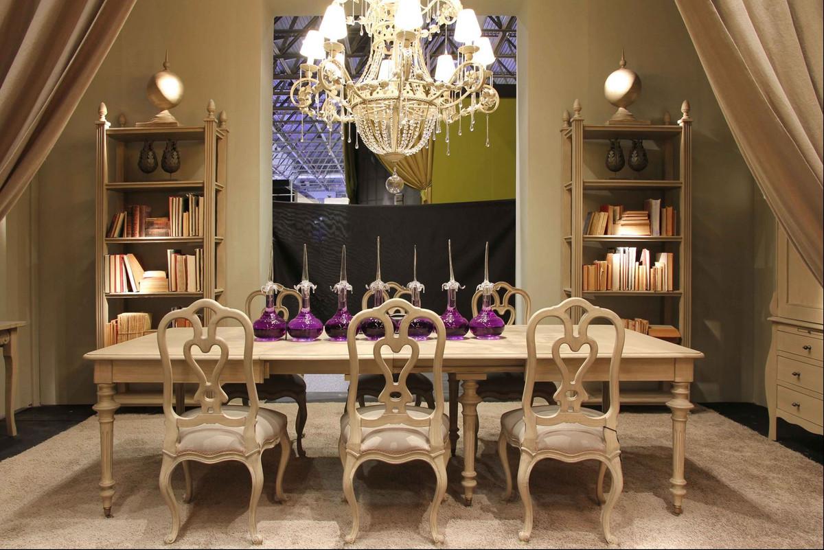 Casa Padrino Tavolo Da Pranzo In Stile Country Di Lusso Grigio 170 470 X 120 X