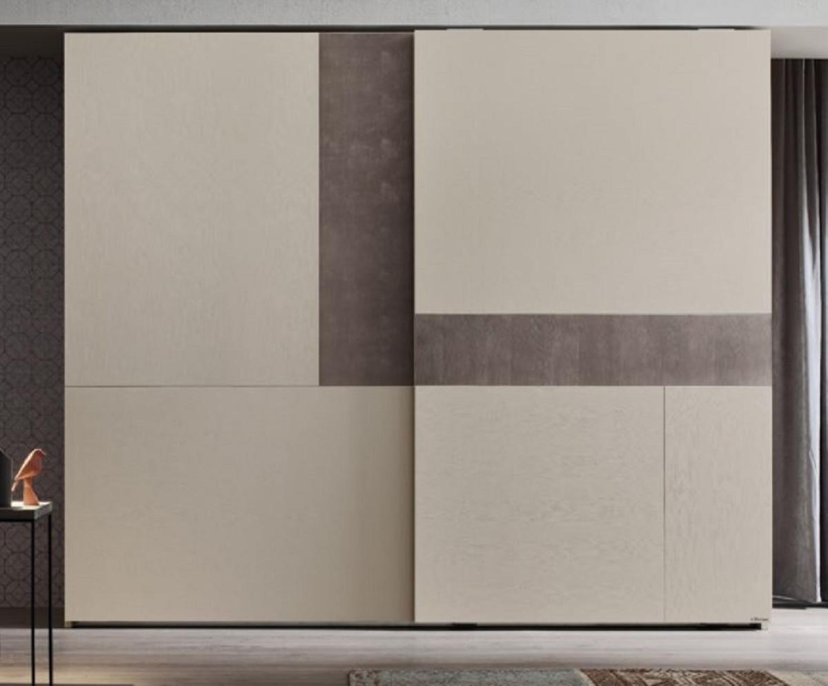 Casa Padrino Luxury Bedroom Cabinet Cream Gray 295 X 68 X H 250 Cm Solid Wood Wardrobe With 2 Sliding Doors Luxury Bedroom Furniture