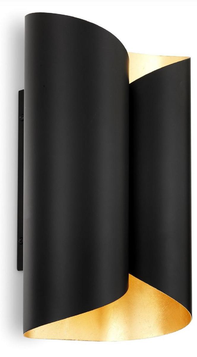 Casa Padrino Designer Wandleuchte Schwarz / Gold 18 x 10,5 x H. 28 cm   Moderne Wohnzimmer ...