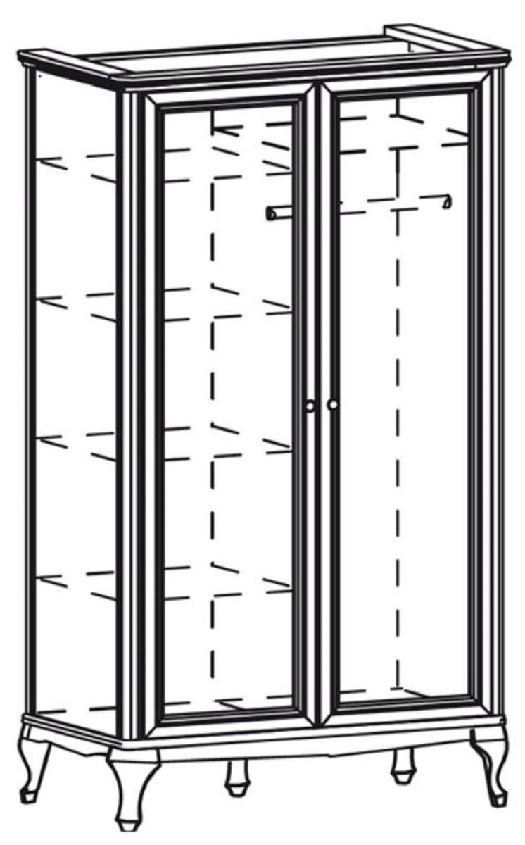 Casa Padrino Armadio Camera Da Letto Art Nouveau Di Lusso Marrone Scuro 114 5 X 60