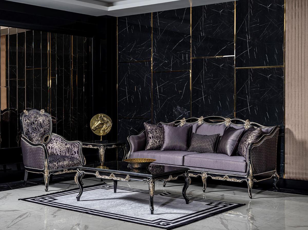Casa Padrino Luxury Baroque Living Room, Black And Gold Living Room
