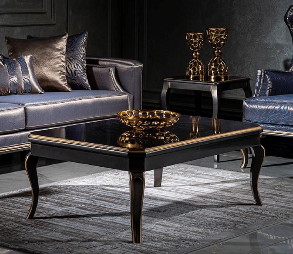 Casa Padrino Luxury Baroque Coffee, Black Living Room Set