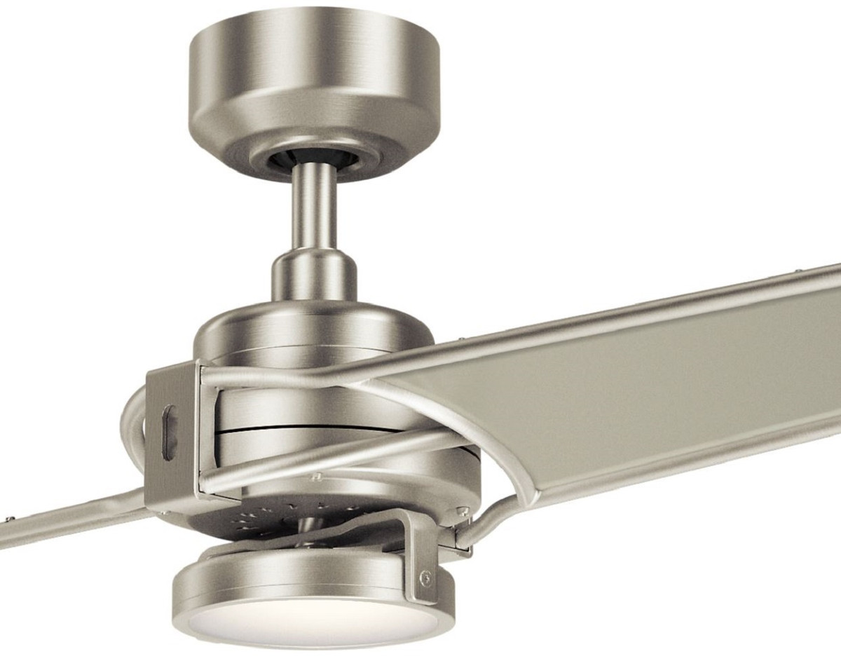 Casa Padrino Luxury Ceiling Fan With Led Lighting And Remote Control Silver Champagne 142 X H 35 Cm Luxury Quality