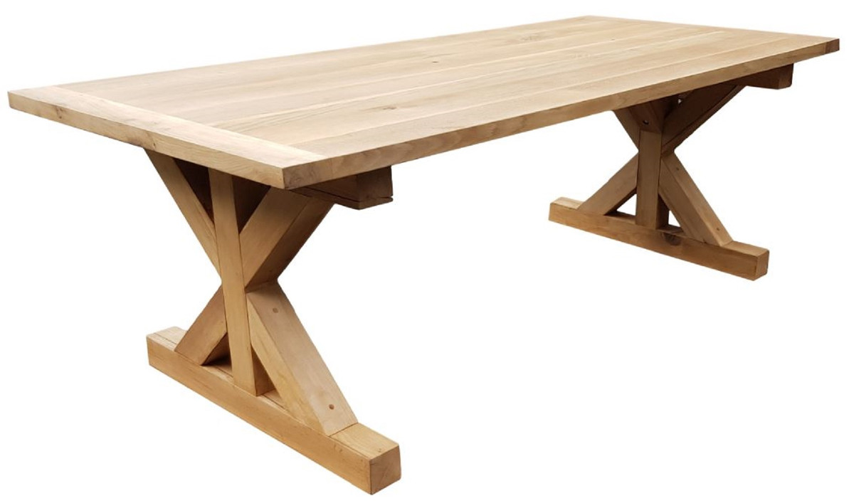 Casa Padrino country style oak wood dining table natural   Different ...