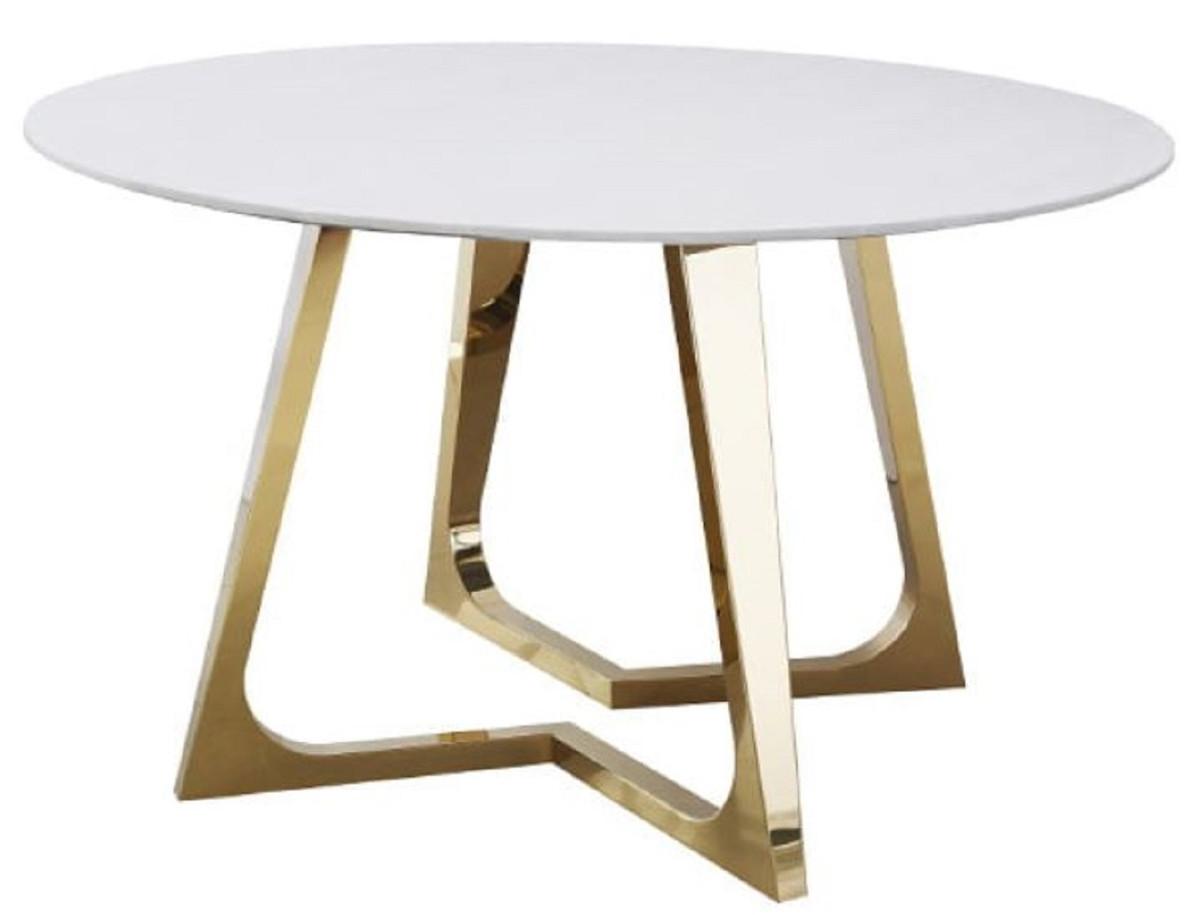 Casa Padrino luxury dining table white / gold Ø 9 x H. 9 cm ...