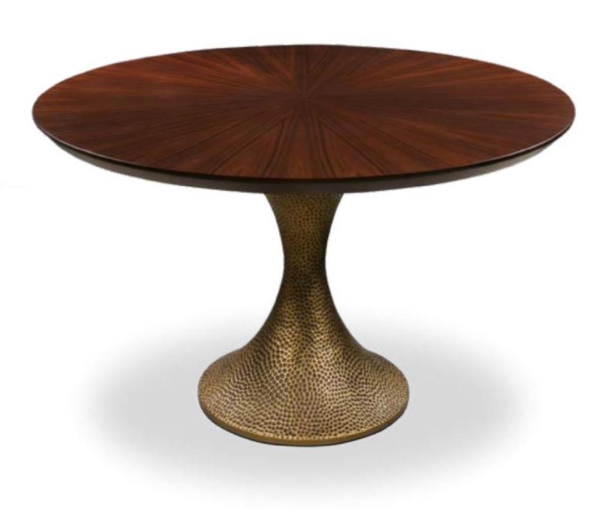 Casa Padrino luxury dining table brown / antique gold Ø 9 x H ...