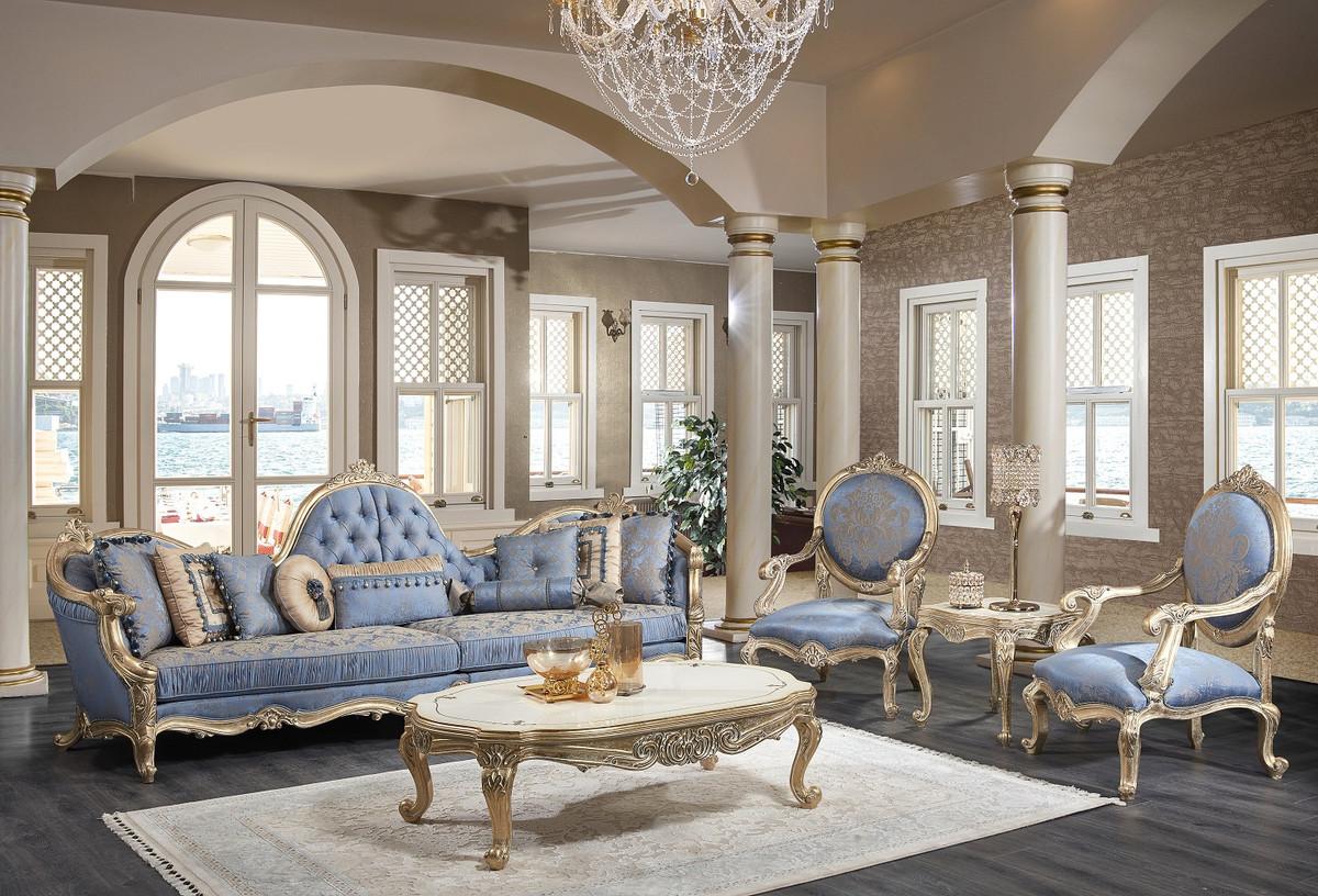 Casa Padrino Luxury Baroque Living Room, White Living Room Set