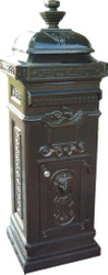 Letter Box Mailbox Vintage Style Green Mod3