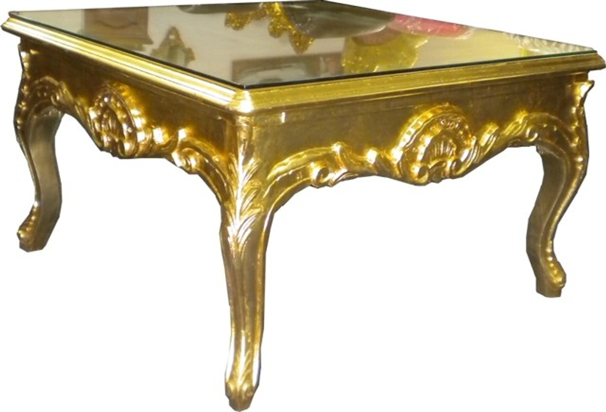 casa padrino barock beistelltisch gold couch tisch wohnzimmer tisch couchtisch. Black Bedroom Furniture Sets. Home Design Ideas