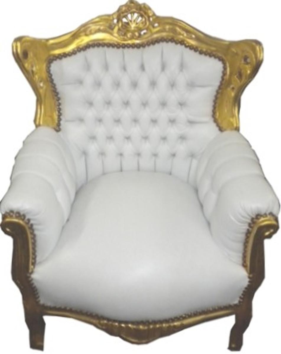 barock kinder sessel wei gold tron casa padrino farbwelten wei gold. Black Bedroom Furniture Sets. Home Design Ideas