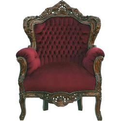 "Baroque Armchair ""King"" Bordeaux / Brown"