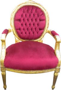 Baroque salon chair Bordeaux / Gold Mod2 – Bild