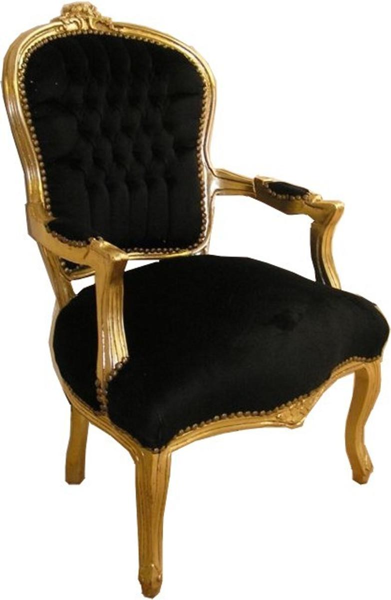 barock salon stuhl schwarz gold st hle barock st hle barock salon st hle mod1. Black Bedroom Furniture Sets. Home Design Ideas