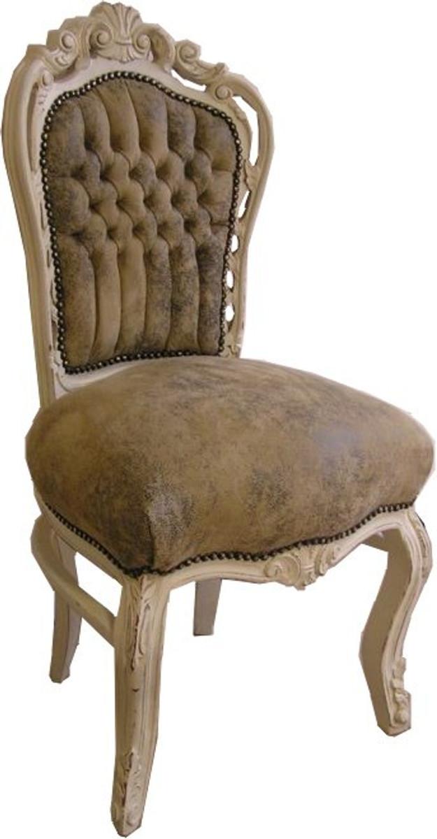 barock esszimmer stuhl hellbraun creme lederoptik st hle barock st hle barock esszimmerst hle. Black Bedroom Furniture Sets. Home Design Ideas