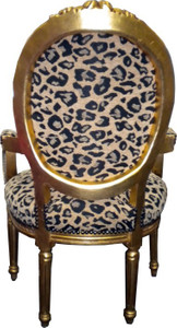 Baroque salon chair leopard pattern2 / gold Mod2 – Bild 3