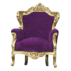 "Barock Sessel ""King"" Lila/Gold"