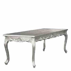 Barock Esstisch Silber 200cm - Esszimmer Tisch – Bild