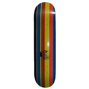 Red Rebel Skateboard Deck Rainbow 7.625 inch