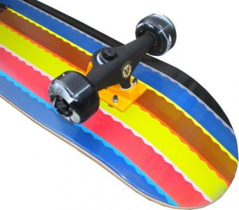 Red Rebel Skateboard Komplettboard Rainbow Stripes 7.625 inch mit VENTURE Achsen Black/Orange – Bild 2