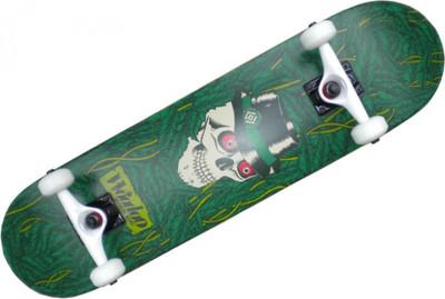 Woodoo Skateboard Komplettboard Green Skull 8.0 – Bild 1