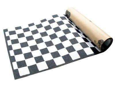 Black Diamond Skateboard Griptape Checker White