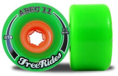 ABEC 11 Classic FreeRide 78A 77mm Wheels (4 pieces)