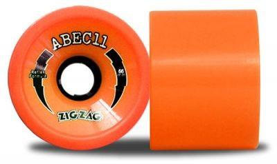 ABEC 11 Reflex ZigZags Orange Plus 89A 66mm Wheels (4 pieces)