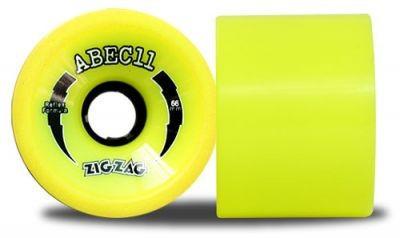 ABEC 11 Reflex ZigZags Lemon 83A 66mm Wheels (4 pieces)