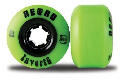 Retro Longboard Wheel Set InvertZ Classic 99A 61mm wheels skateboard