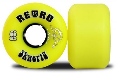 Retro Longboard Rollen Set SkwertZ 96A 62mm - Skateboard Wheels Wheel Set