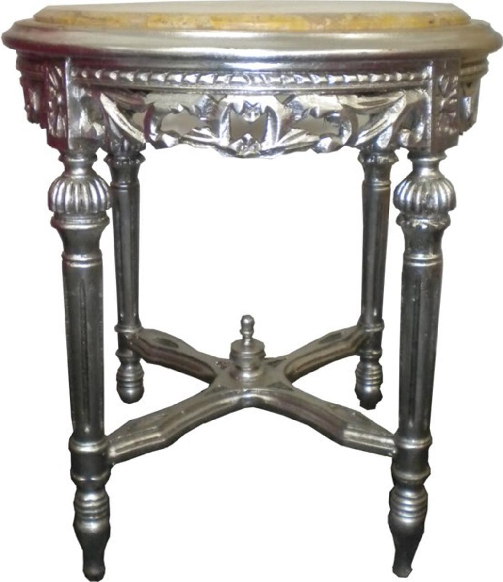 barock beistelltisch silber rund 53 x 47 cm beistelltische barock beistelltische. Black Bedroom Furniture Sets. Home Design Ideas
