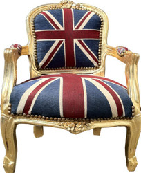 Baroque Kids Armchair Union Jack/Gold