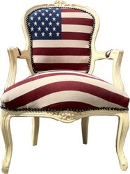 Casa Padrino Baroque salon chair USA Design / Cream