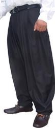 Il Padrino Moda Luxury black pleated trousers Bild 2