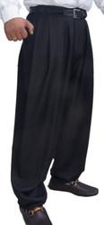 Il Padrino Moda Luxury black pleated trousers
