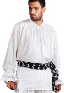 John Cook Renaissance Piraten Shirt - White