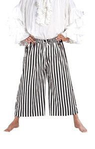 Sailor Piraten Hose - Black - White