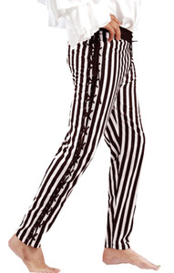 Sidestring Striped Piraten Hose - Black - White