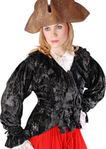 Mary Read Piraten Bluse - Black