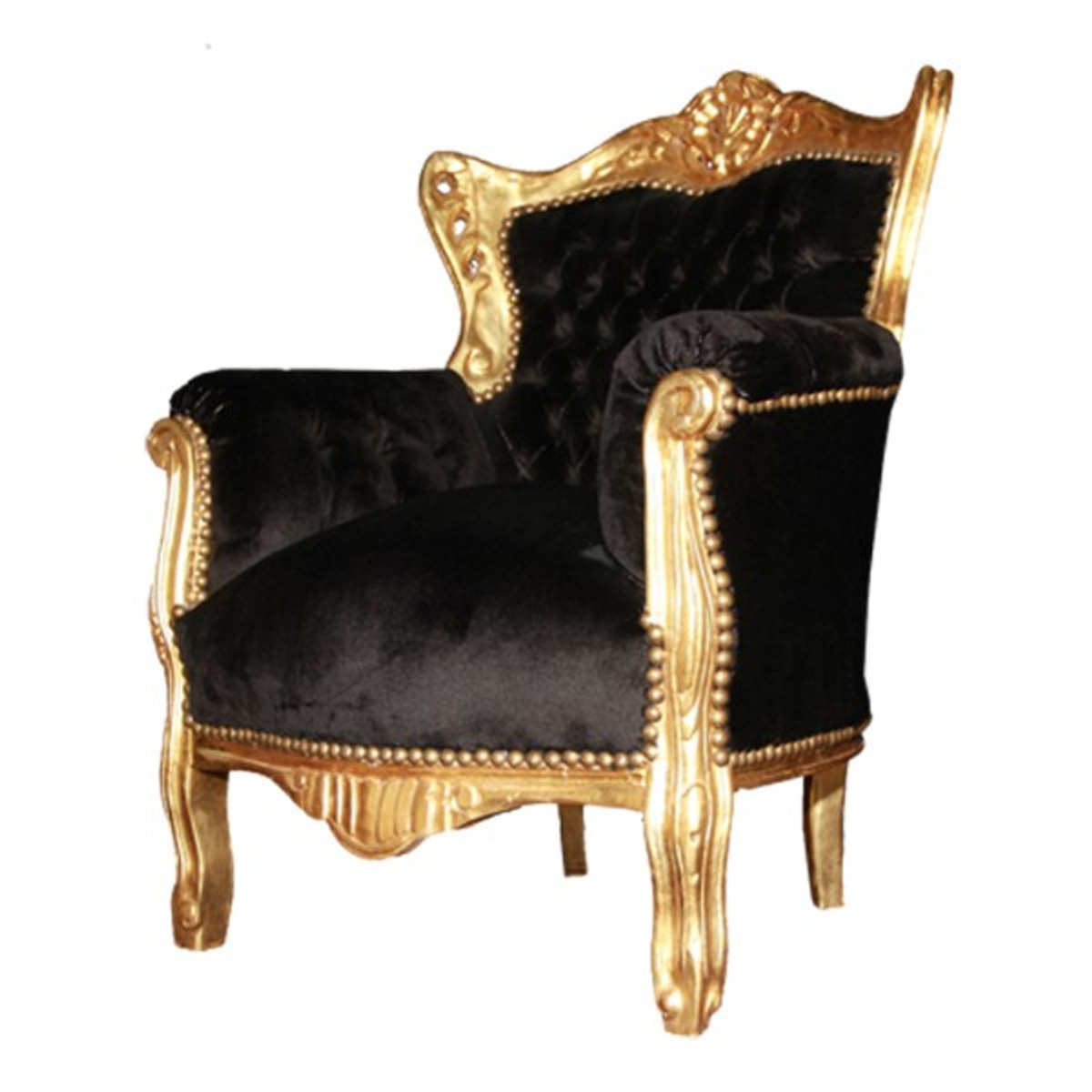 barock kinder sessel schwarz gold casa padrino farbwelten schwarz gold. Black Bedroom Furniture Sets. Home Design Ideas