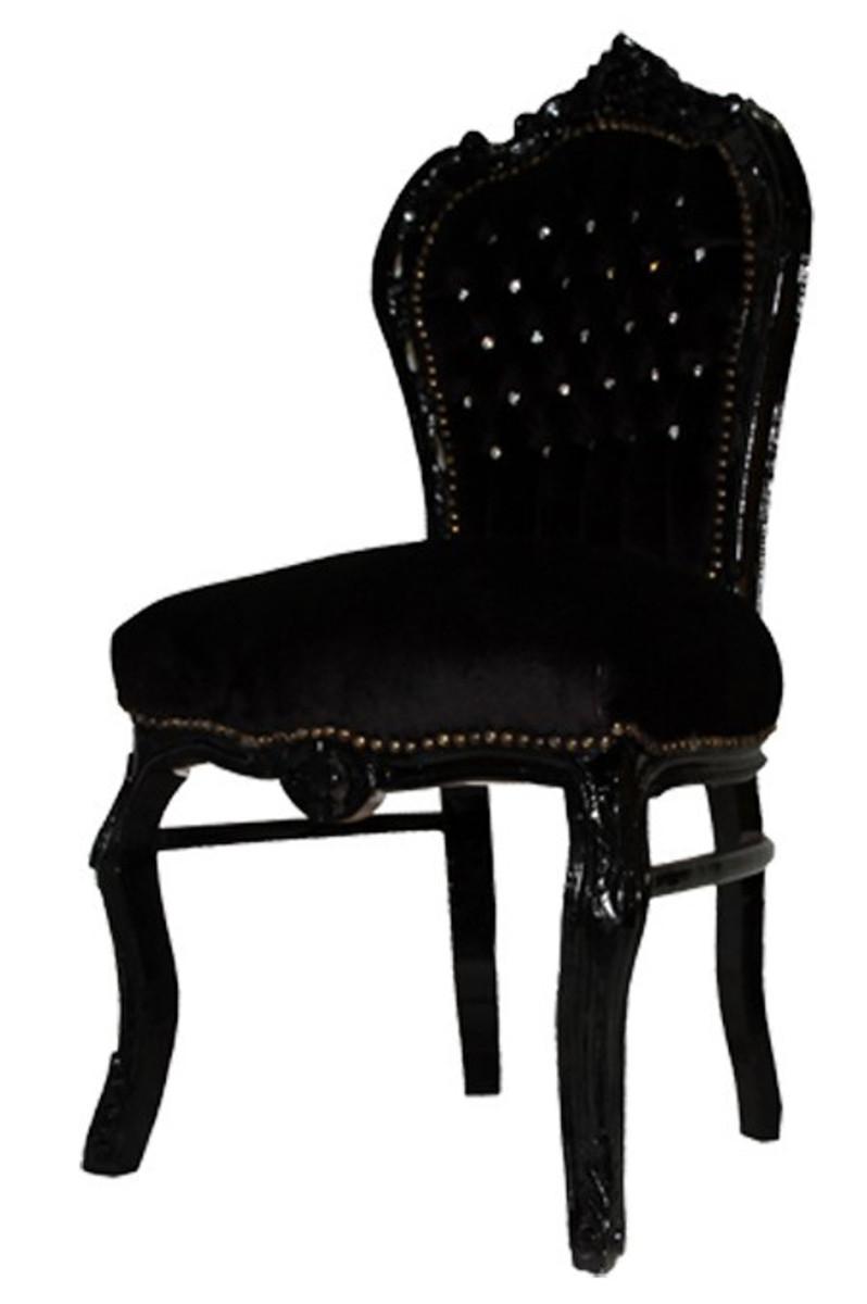 barock esszimmer stuhl schwarz schwarz bling bling st hle barock st hle barock esszimmerst hle. Black Bedroom Furniture Sets. Home Design Ideas